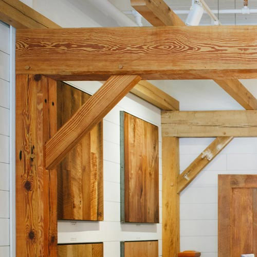 Heart Pine and Antique Oak Beams
